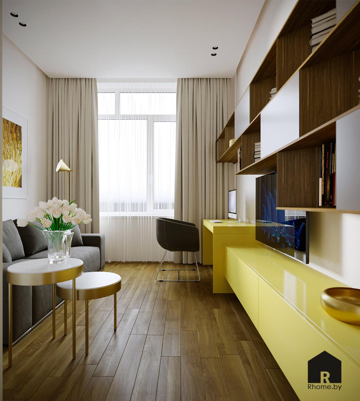 Дизайн интерьера гостевой комнаты в Березовой роще | Дизайн студия – Rhome.by