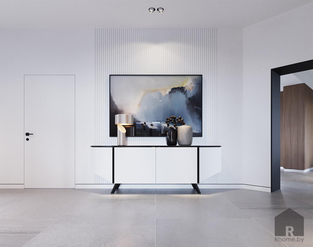 Дизайн интерьера холла первого этажа | Дизайн студия – Rhome.by