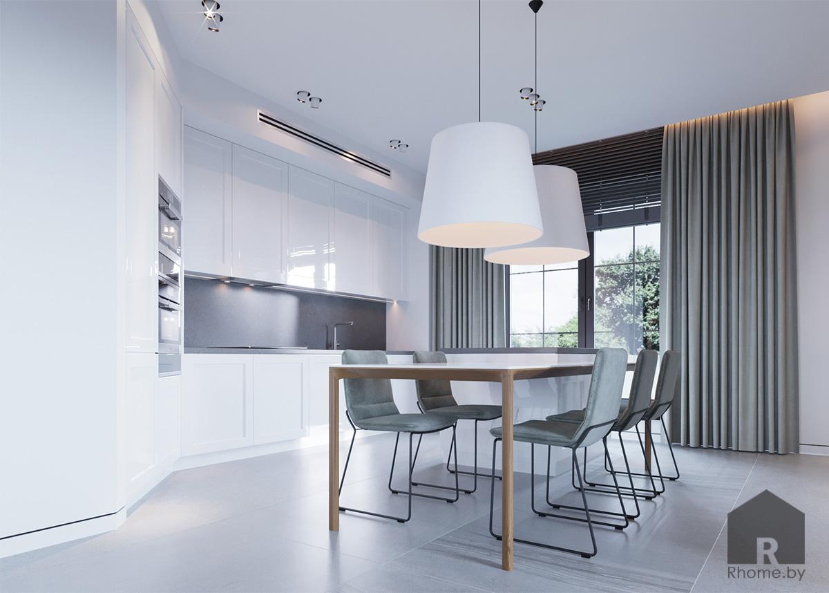 Дизайн интерьера кухни-столовой | Дизайн студия – Rhome.by