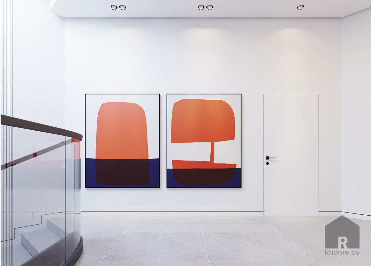 Дизайн интерьера холла второго этажа | Дизайн студия – Rhome.by