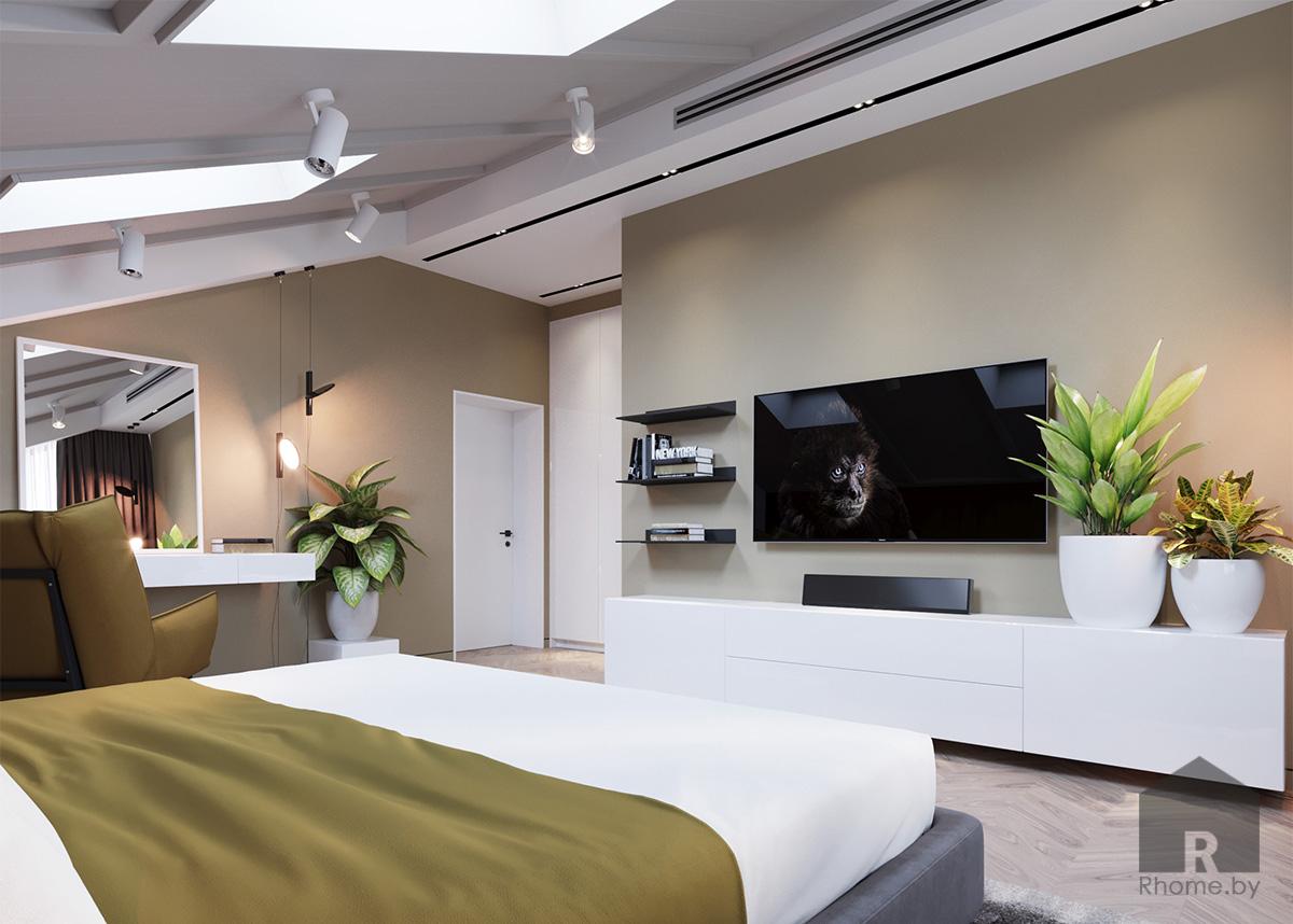 Дизайн интерьера спальни | Дизайн студия – Rhome.by