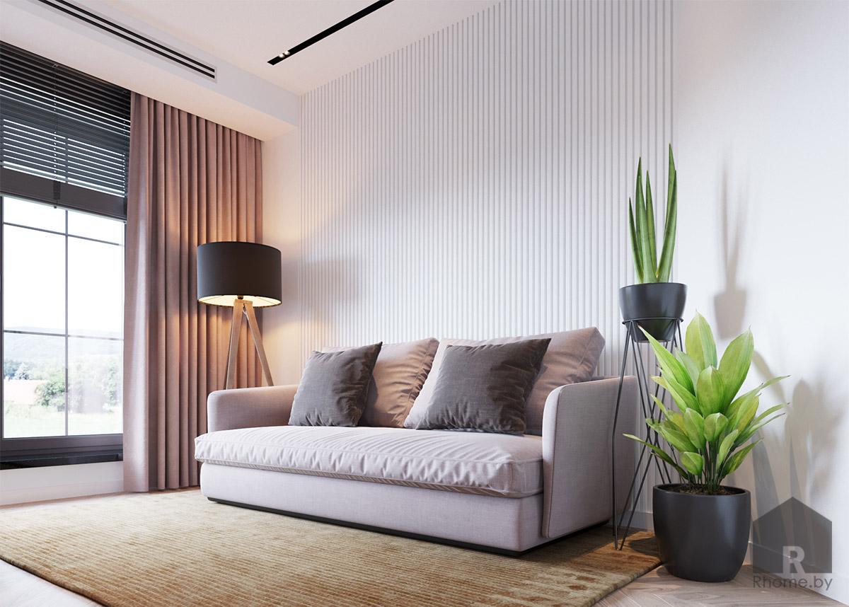 Дизайн интерьера гостевой комнаты | Дизайн студия – Rhome.by