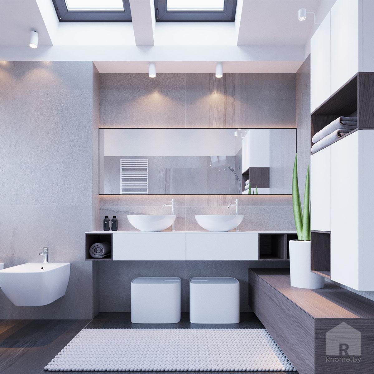 Дизайн интерьера санузла | Дизайн студия – Rhome.by
