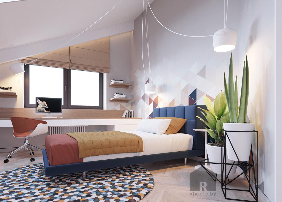 Дизайн интерьера детской комнаты | Дизайн студия – Rhome.by
