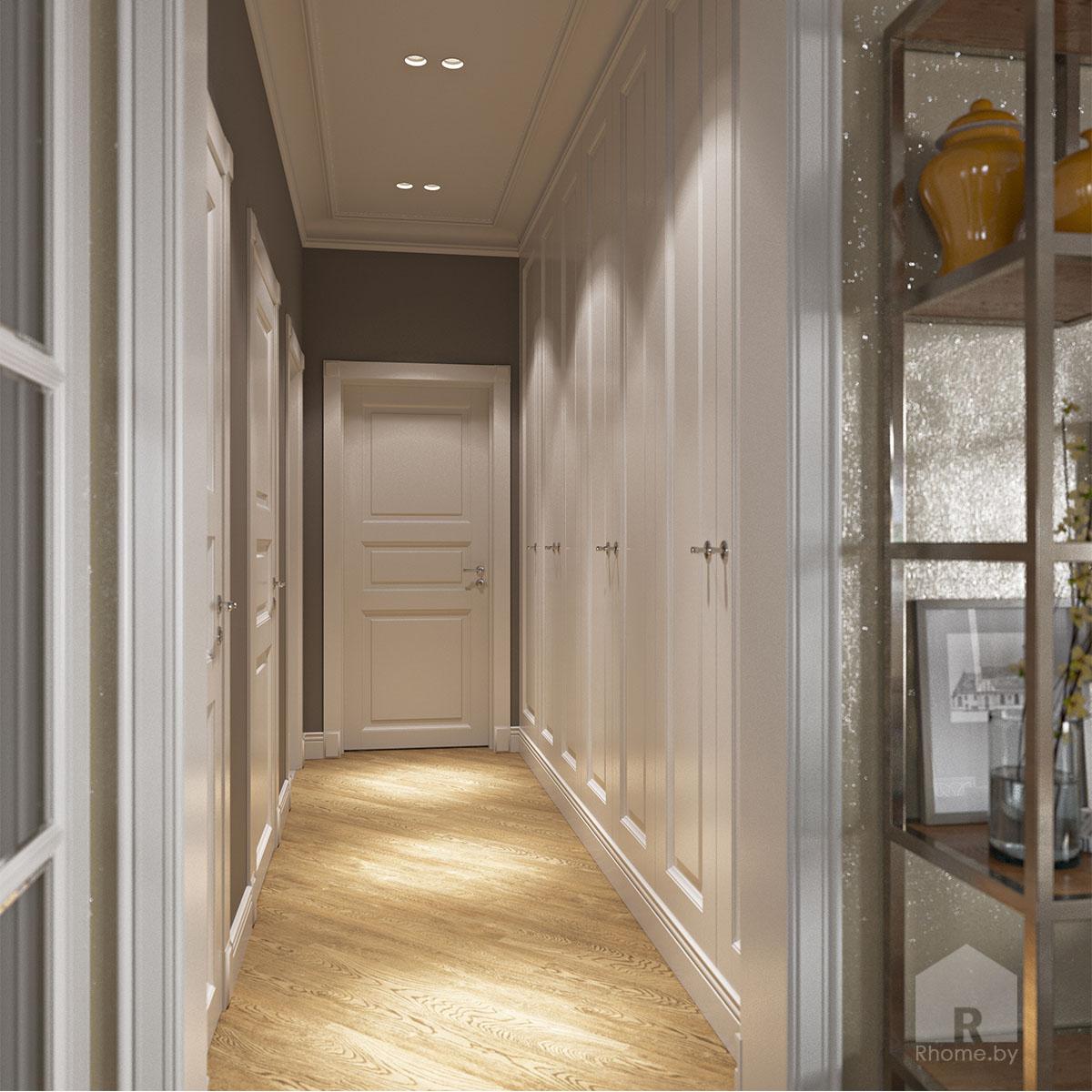 Дизайн интерьера коридора в доме в Зацени | Дизайн студия – Rhome.by
