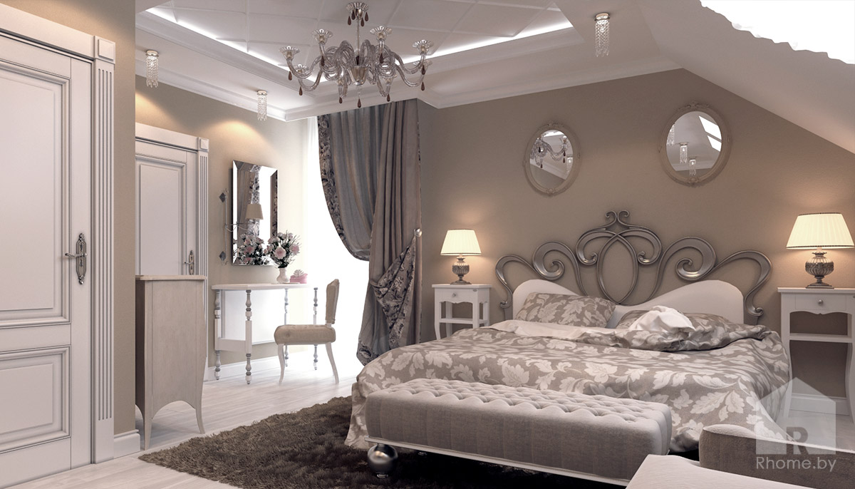 Спальня в традиционном американском стиле