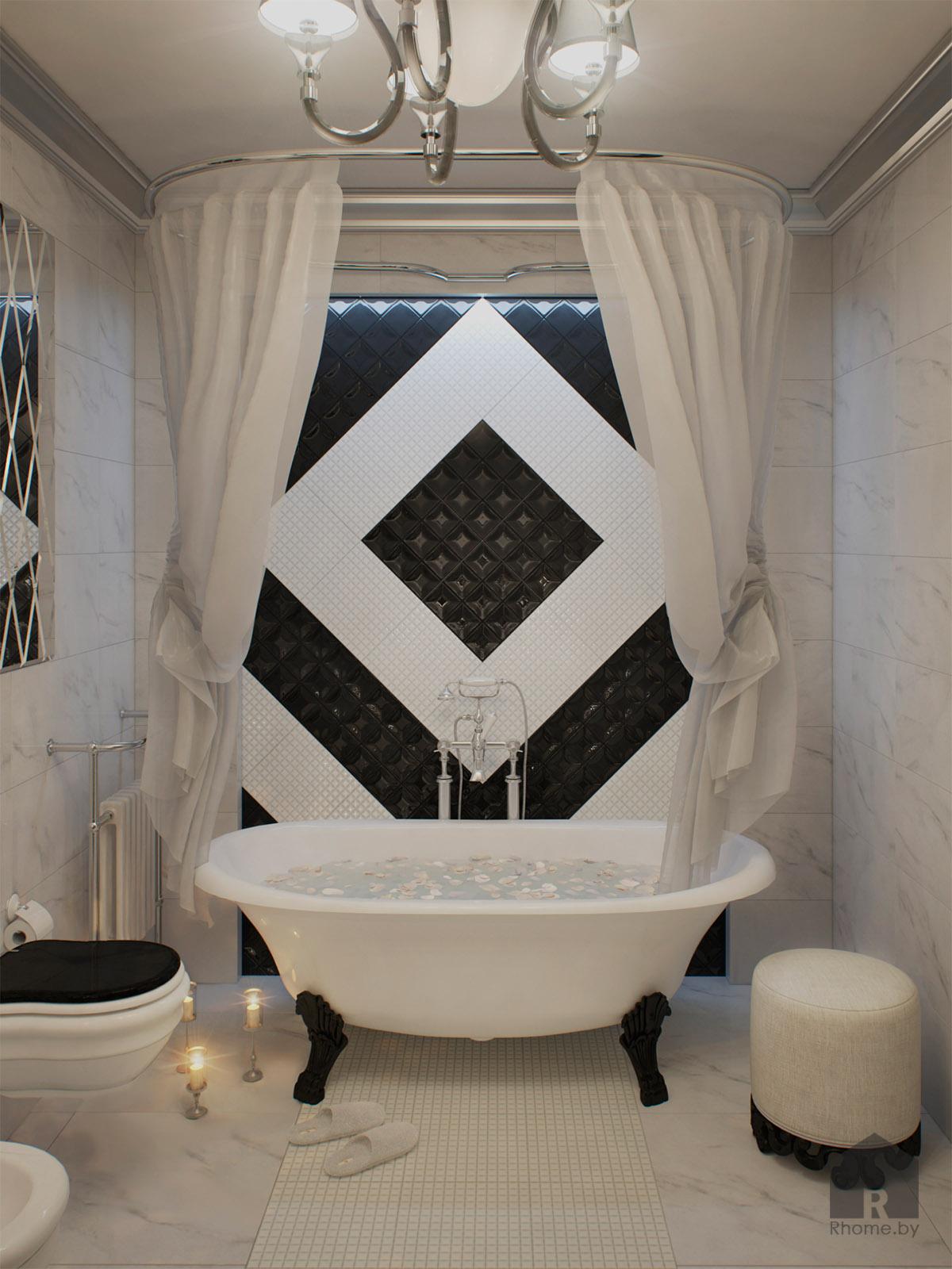 Ванная в арт-деко