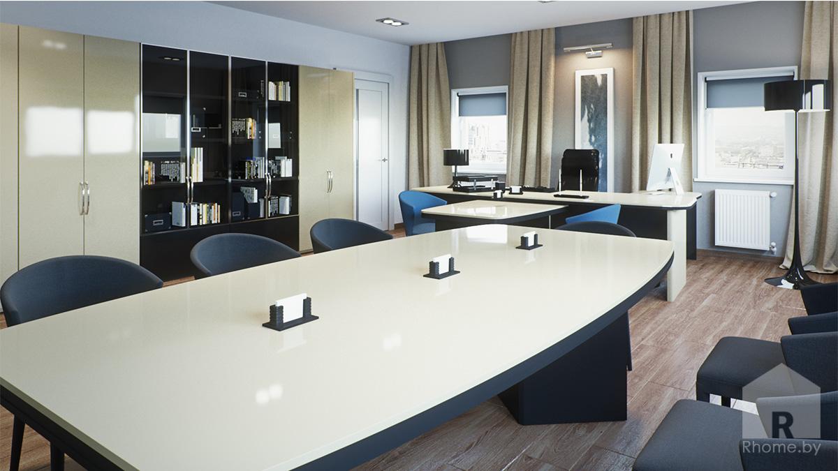 Дизайн интерьера кабинета руководителя | Дизайн студия – Rhome.by