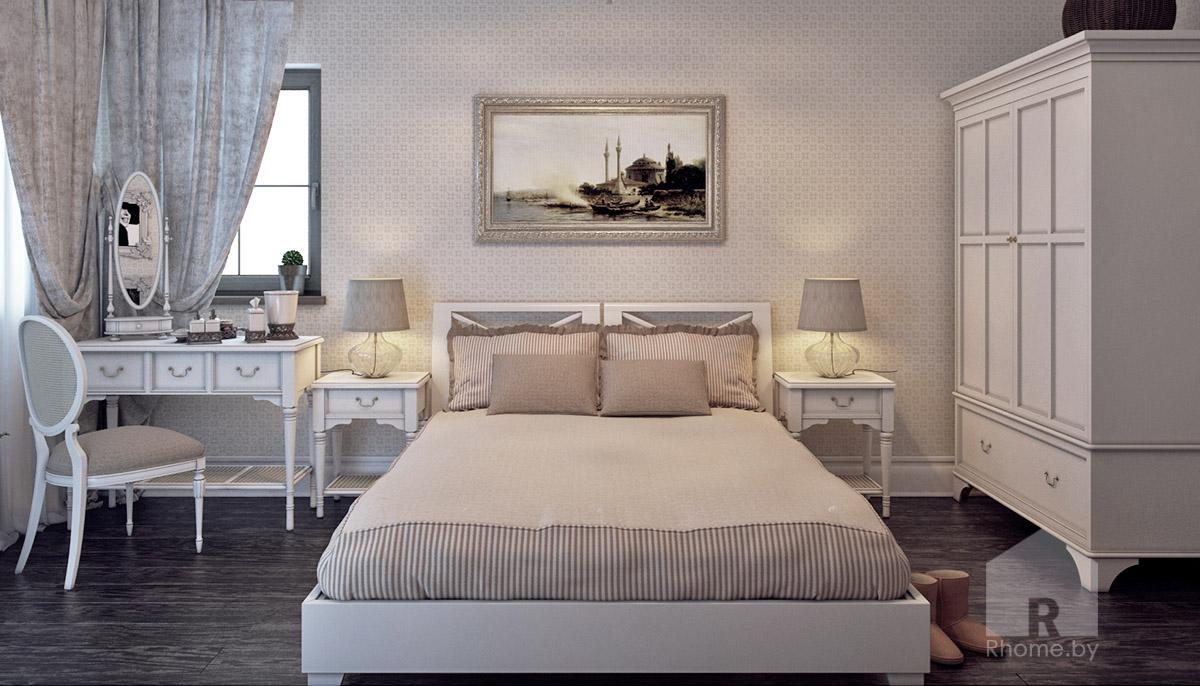 Гостевая спальня в традиционном американском стиле