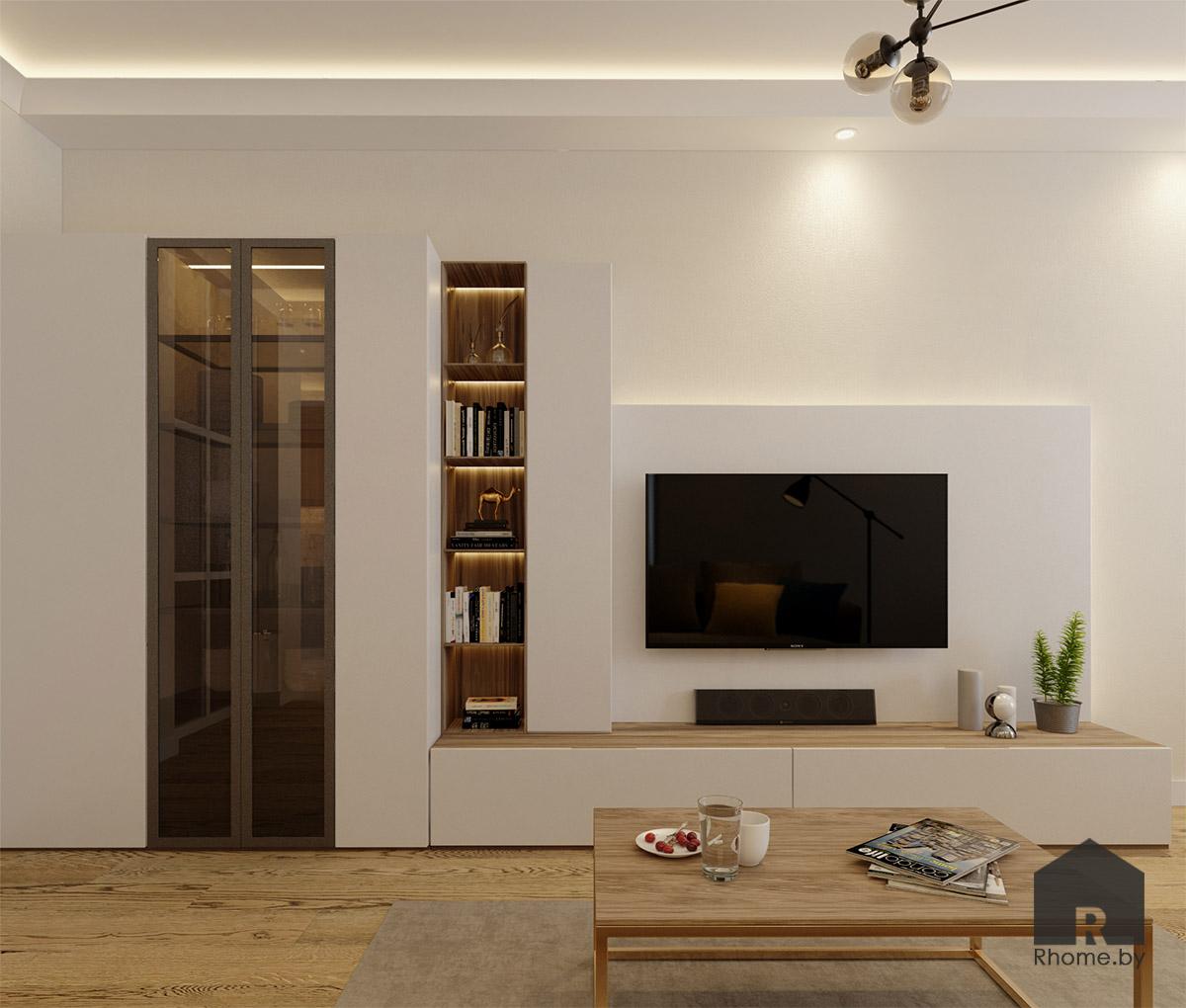 Дизайн гостиной на ул. Беломорская | Дизайн студия – Rhome.by