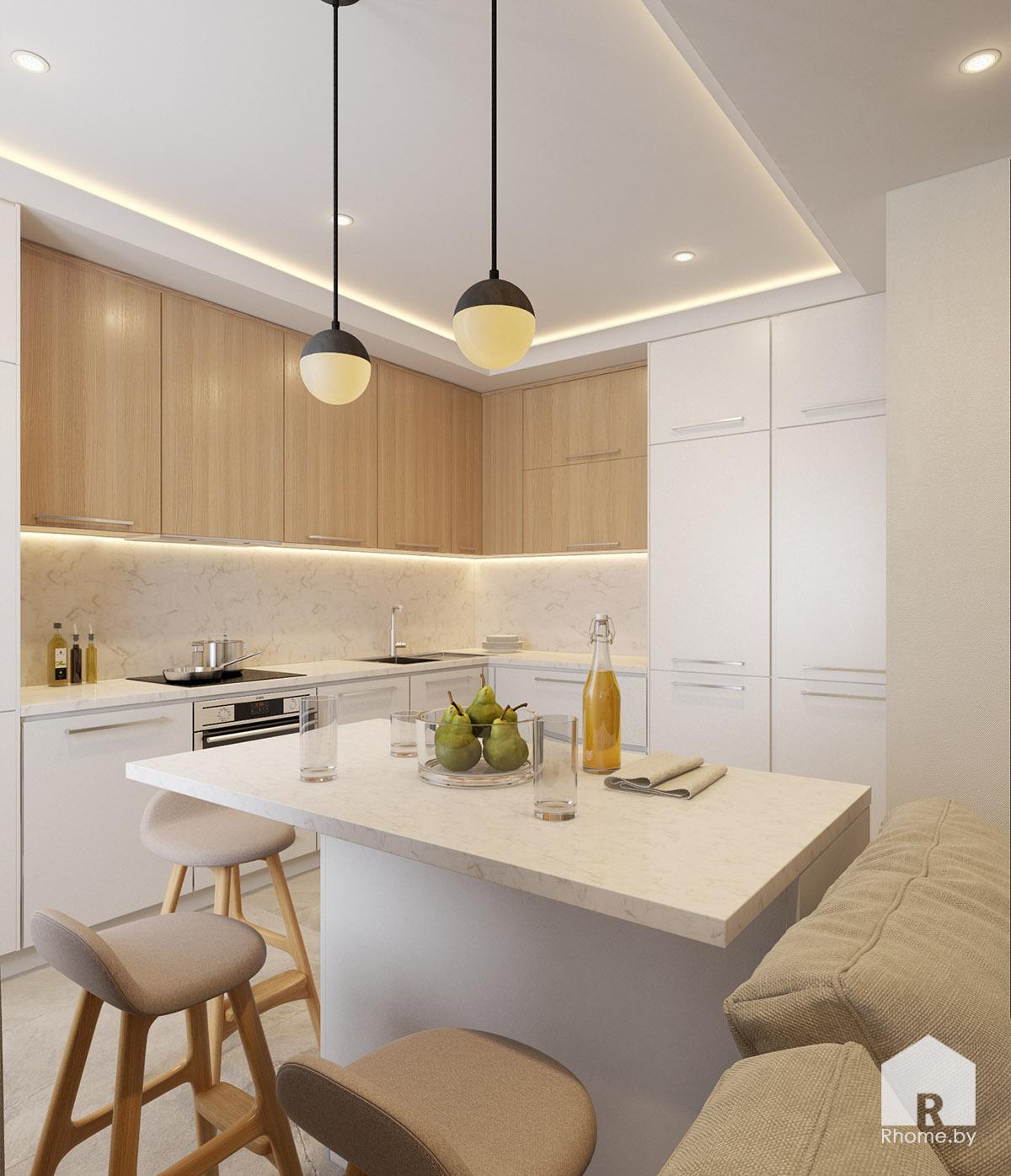 Дизайн кухни на ул. Беломорская | Дизайн студия – Rhome.by