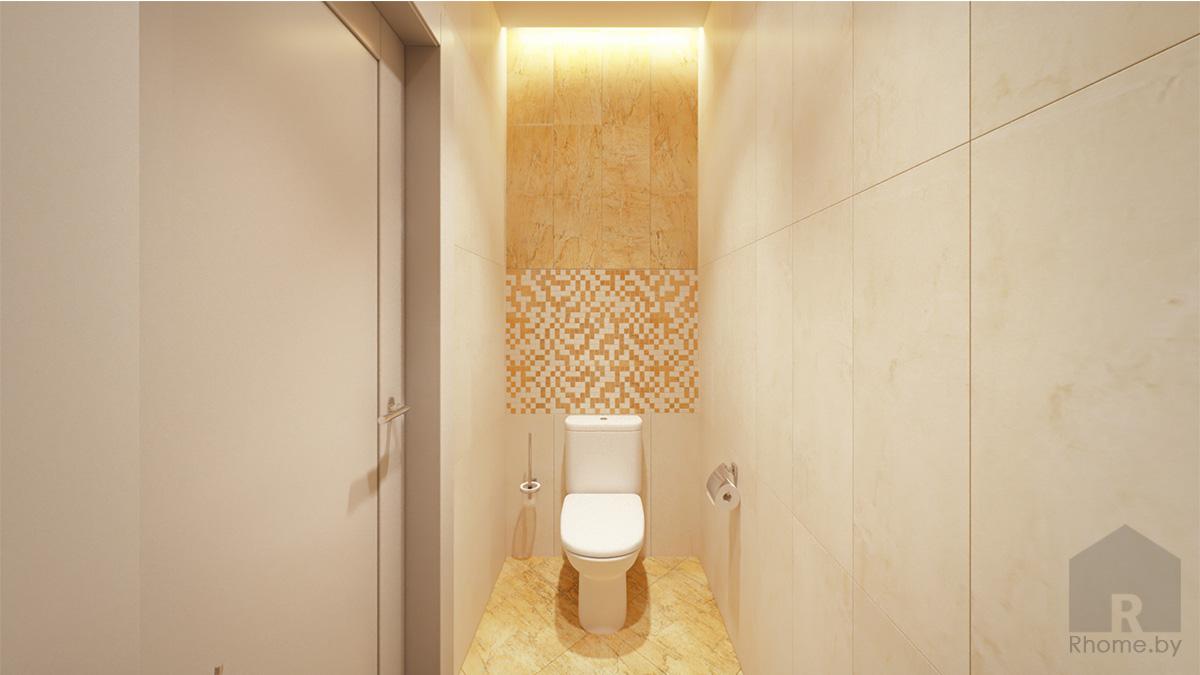 Дизайн интерьера санузла в кабинете руководителя | Дизайн студия – Rhome.by