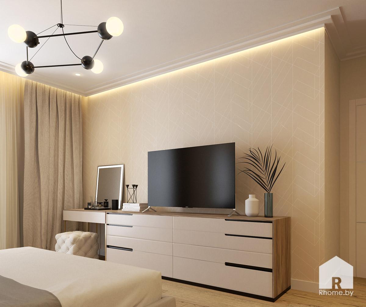Дизайн спальни на ул. Беломорская | Дизайн студия – Rhome.by