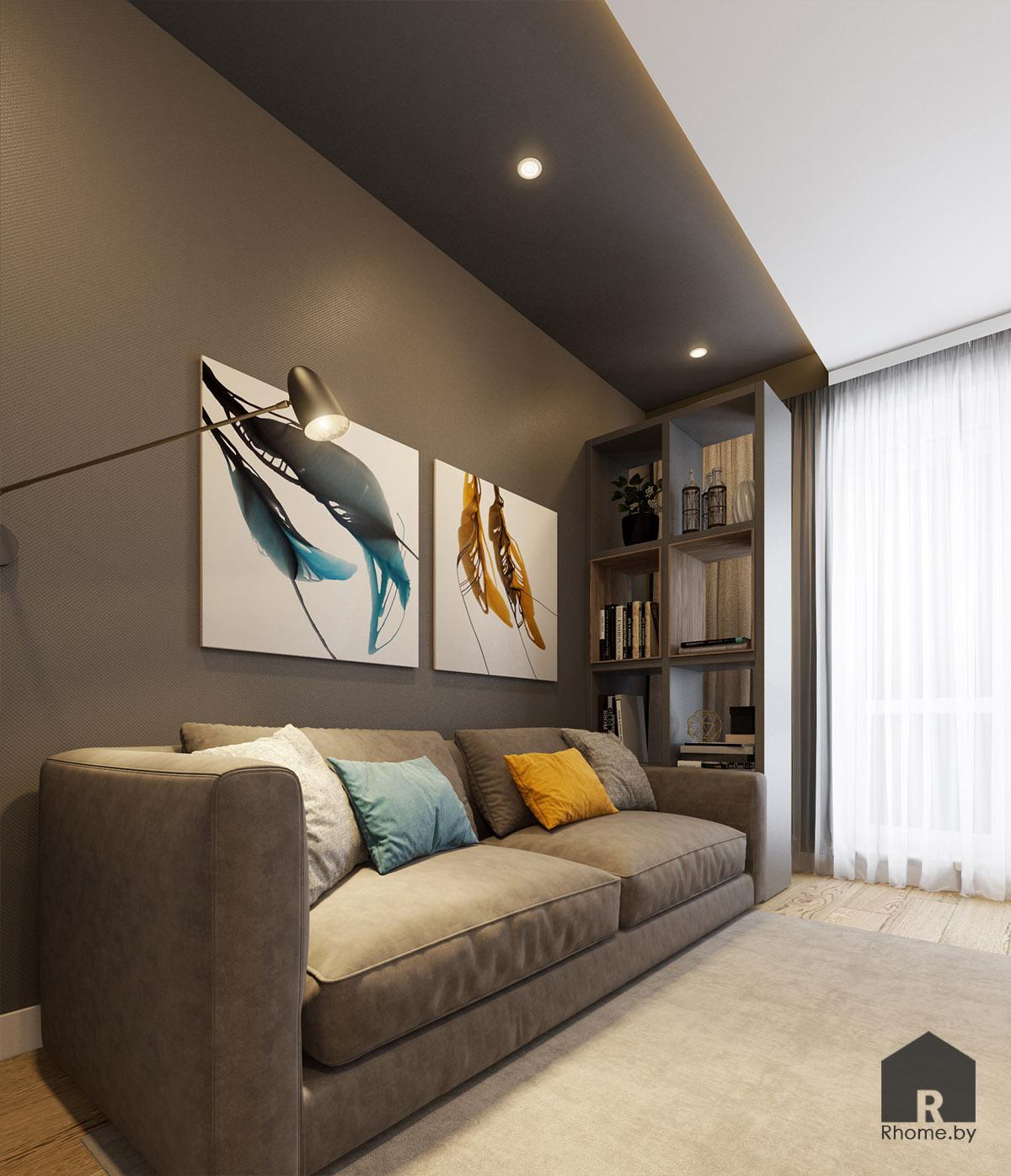Дизайн кабинета на ул. Беломорская | Дизайн студия – Rhome.by