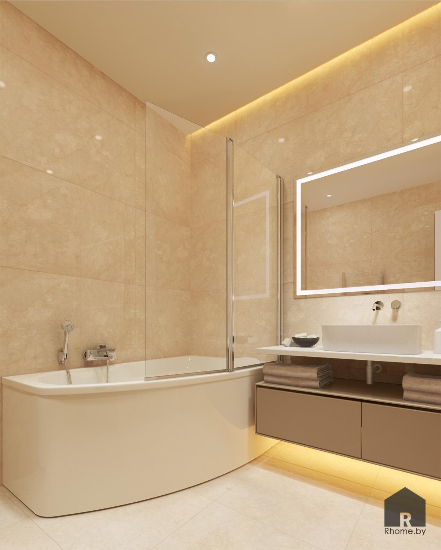 Дизайн ванной комнаты на ул. Беломорская | Дизайн студия – Rhome.by