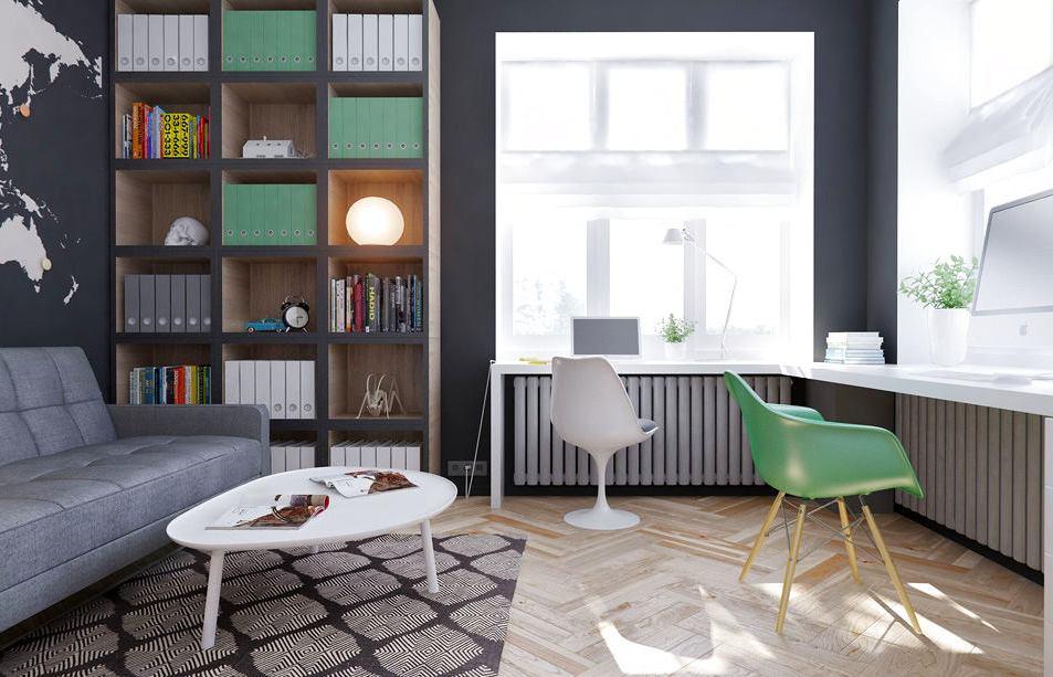 Офис в квартире, домашний офис, подоконник