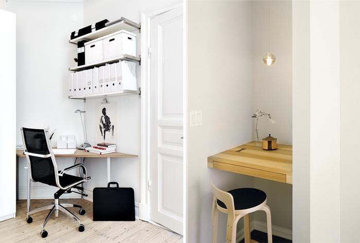 Офис в квартире, домашний офис, углы
