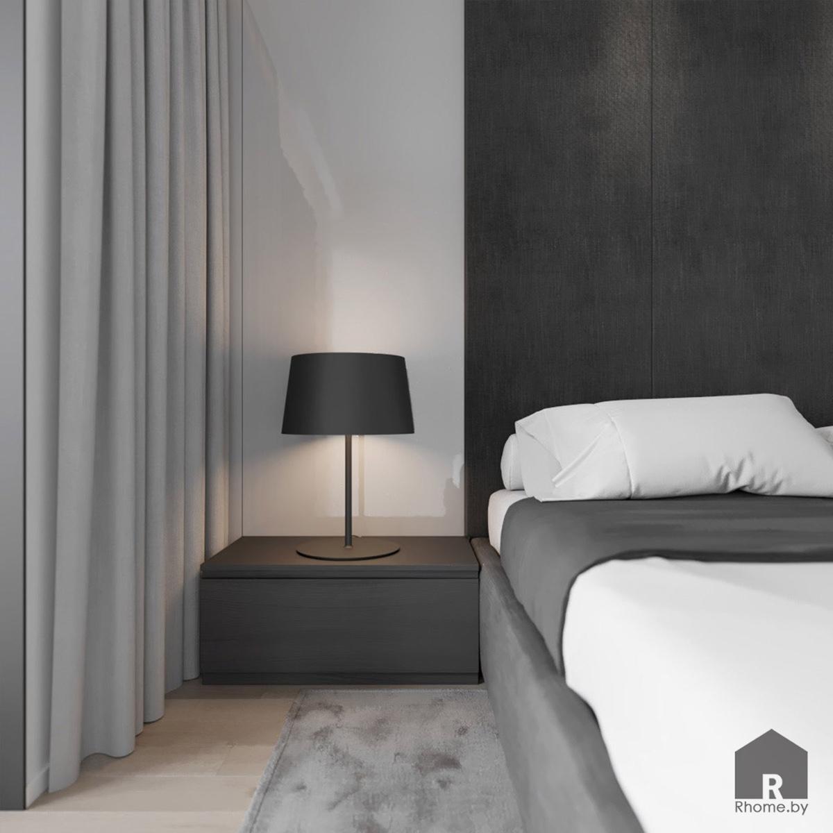 Дизайн интерьера спальни в квартире на улице Мстиславца | Дизайн студия – Rhome.by