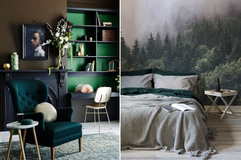 Shaded Spruce Модные цвета в интерьере Pantone