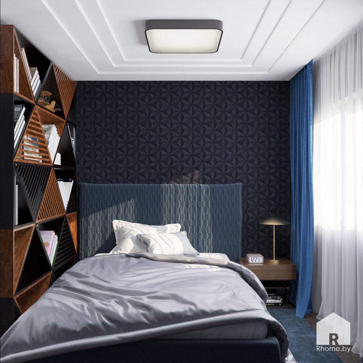 Дизайн детской комнаты в Борисове в темных тонах | Дизайн студия – Rhome.by