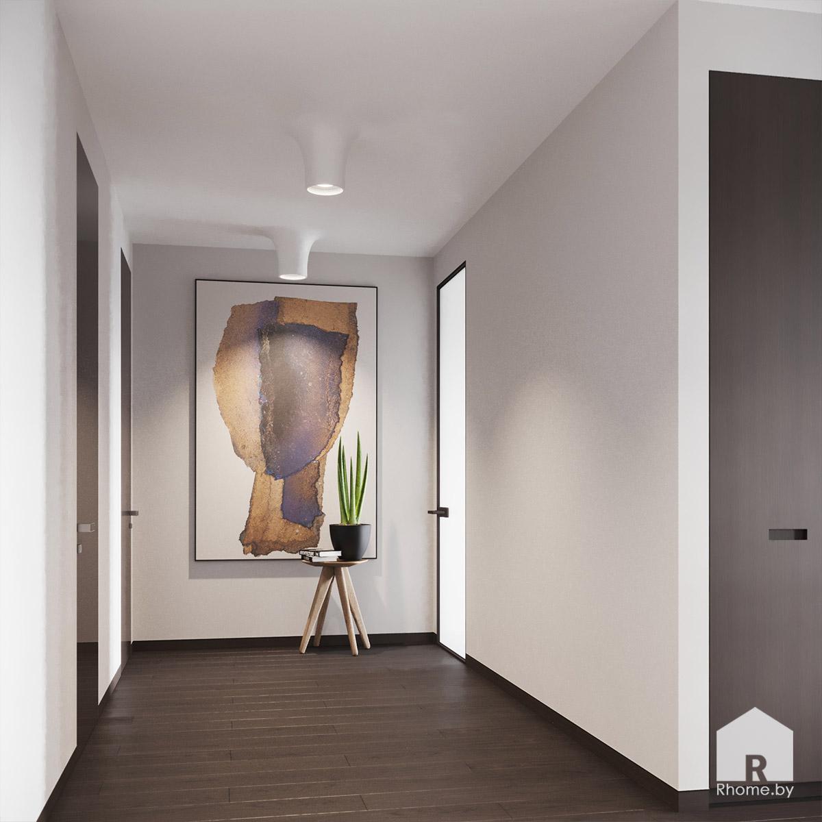 Дизайн интерьера холла в квартире на улице Сторожевская | Дизайн студия – Rhome.by