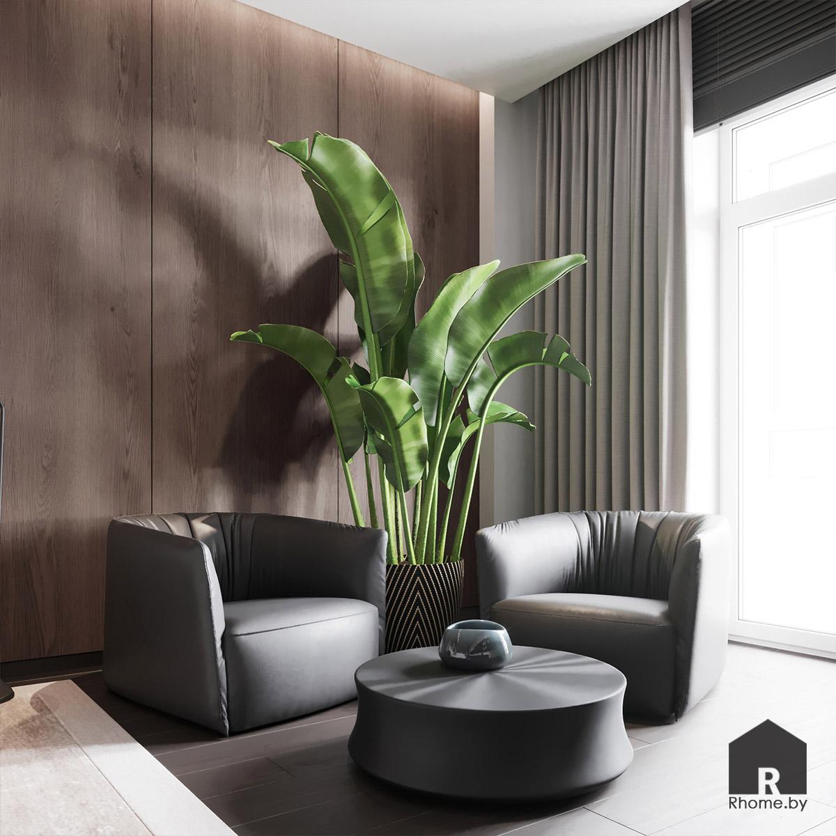 Дизайн интерьера спальни в квартире на улице Сторожевская | Дизайн студия – Rhome.by