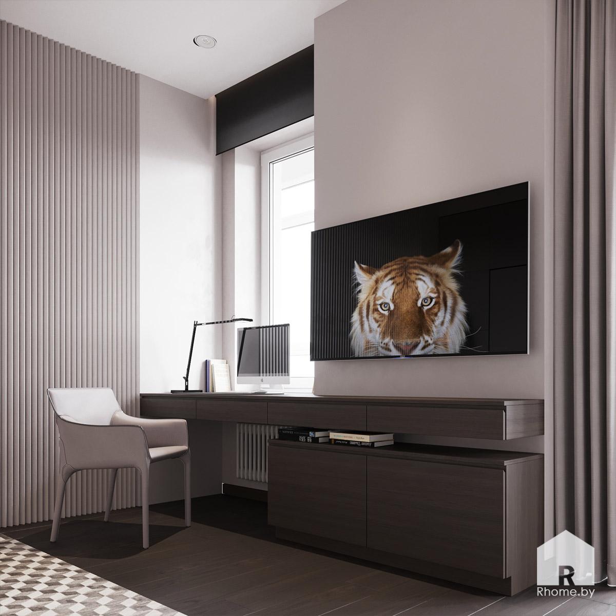 Дизайн интерьера детской комнаты в квартире на улице Сторожевская | Дизайн студия – Rhome.by