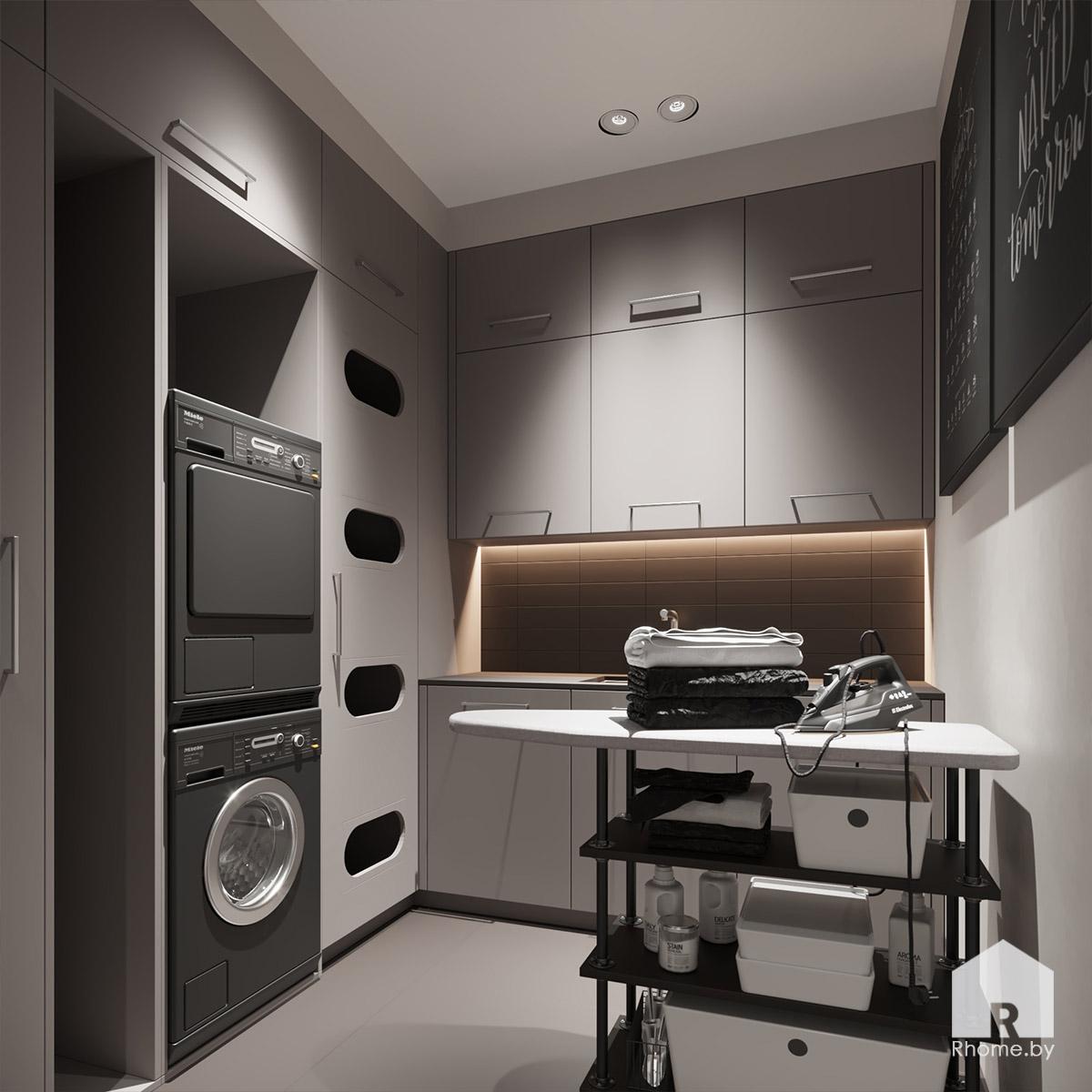 Дизайн интерьера хозблока в квартире на улице Сторожевская | Дизайн студия – Rhome.by