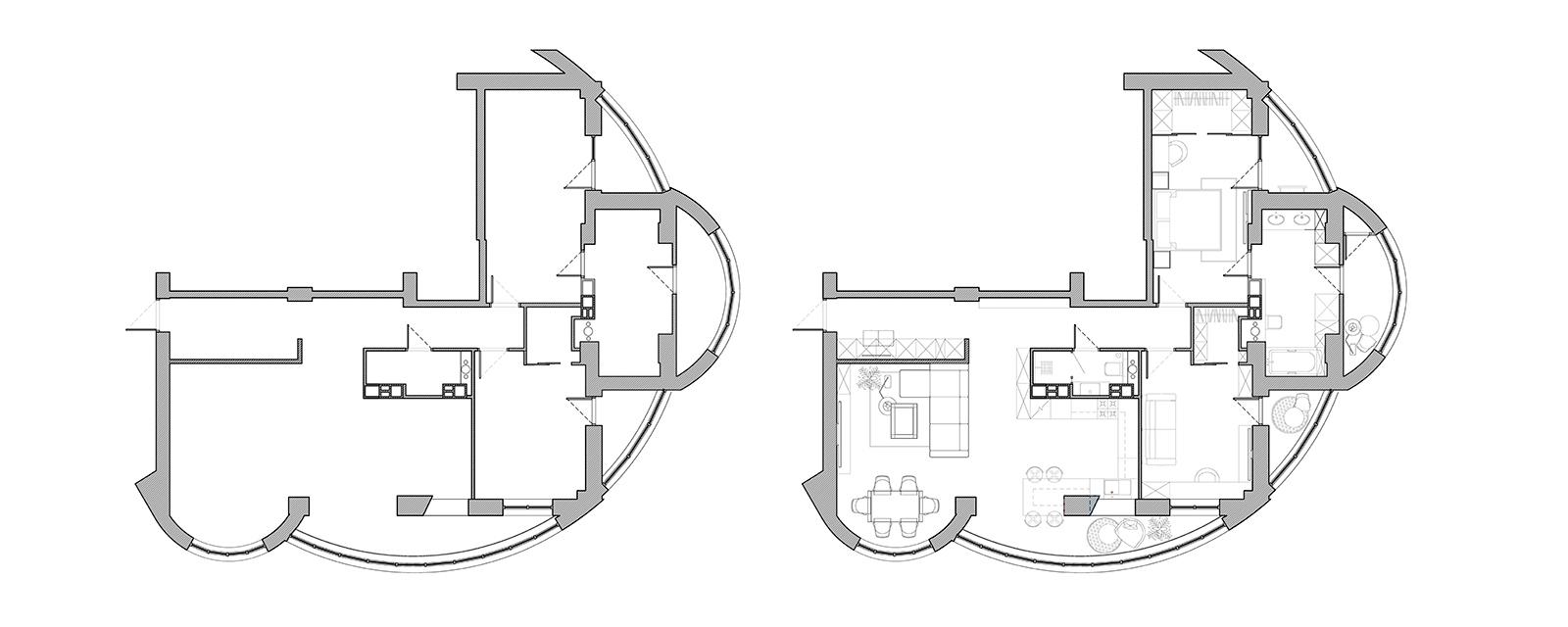 Планировка квартиры в ЖК «Мегаполис» | Дизайн студия – Rhome.by