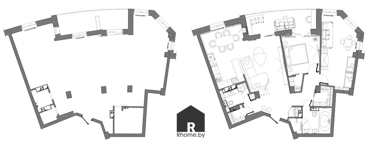 Планировка квартиры | Дизайн студия – Rhome.by