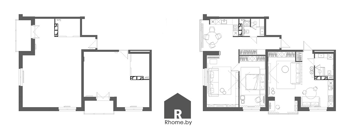 Планировка | Дизайн студия – Rhome.by