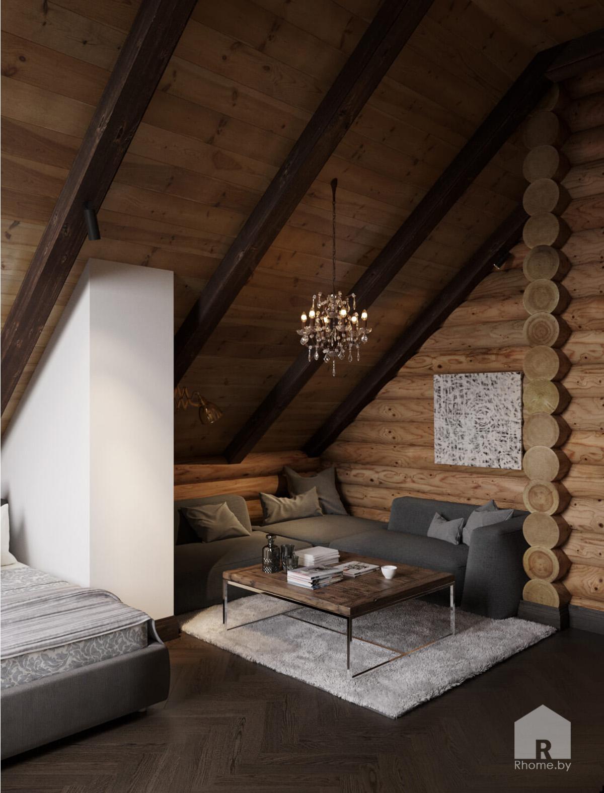 Спальня загородный дом | Дизайн студия – Rhome.by