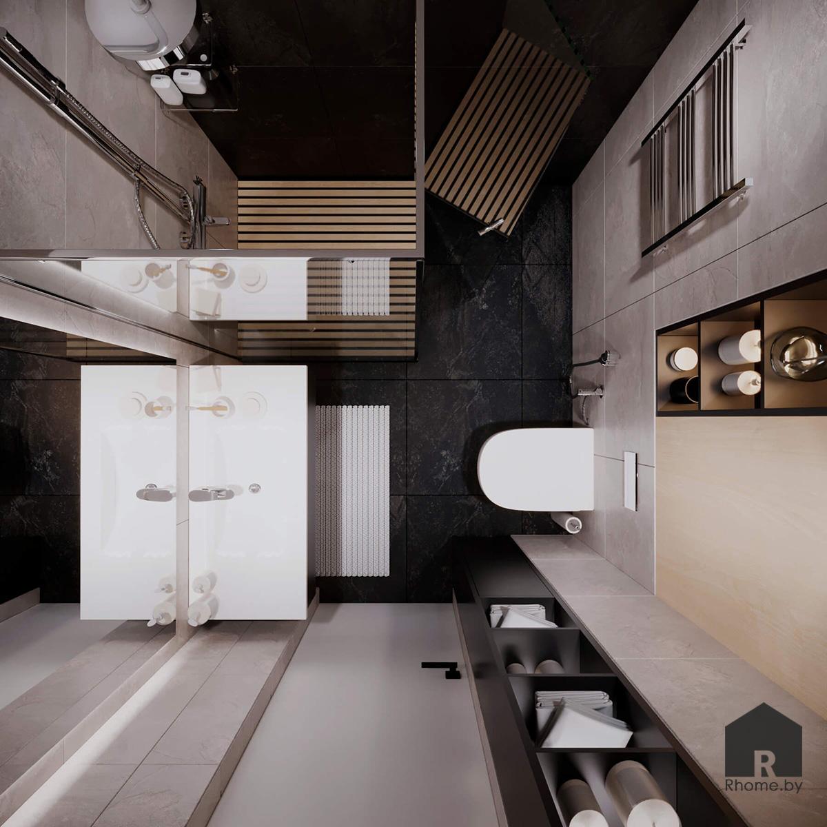 Санузел | Дизайн студия – Rhome.by