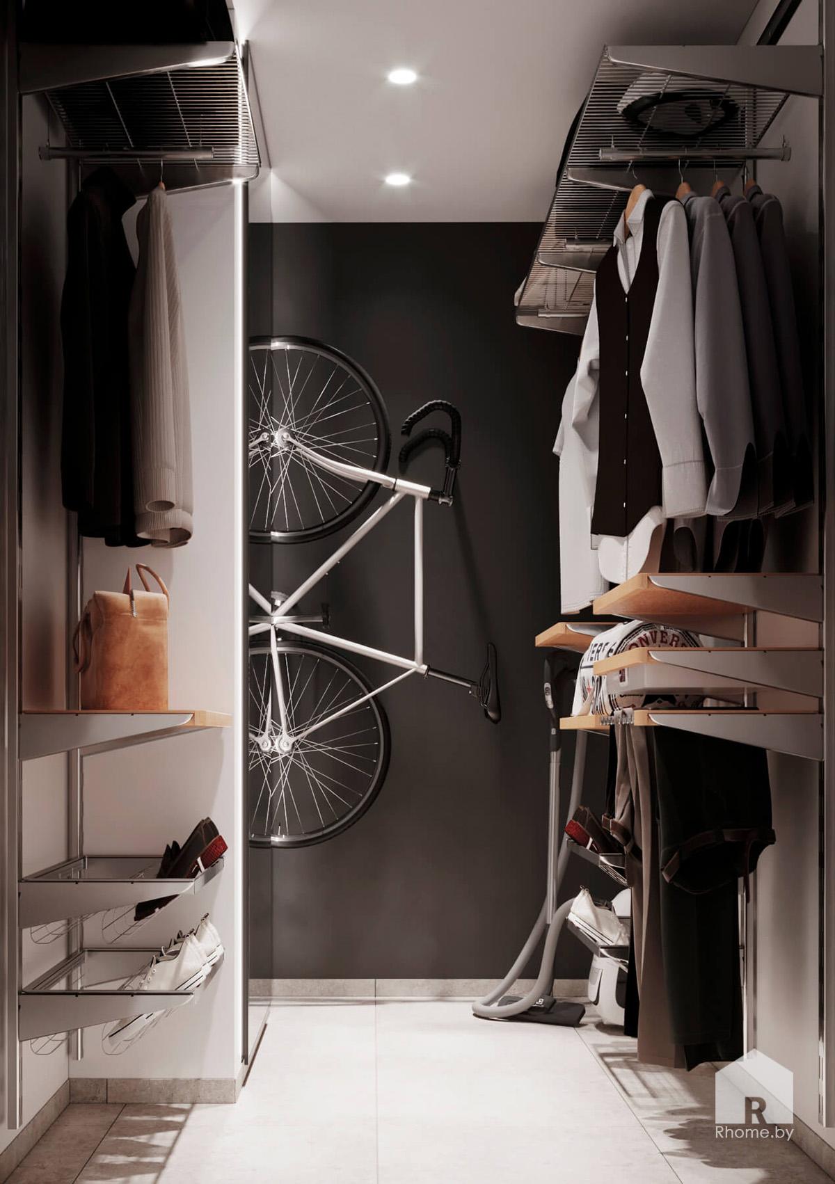 Гардеробная | Дизайн студия – Rhome.by