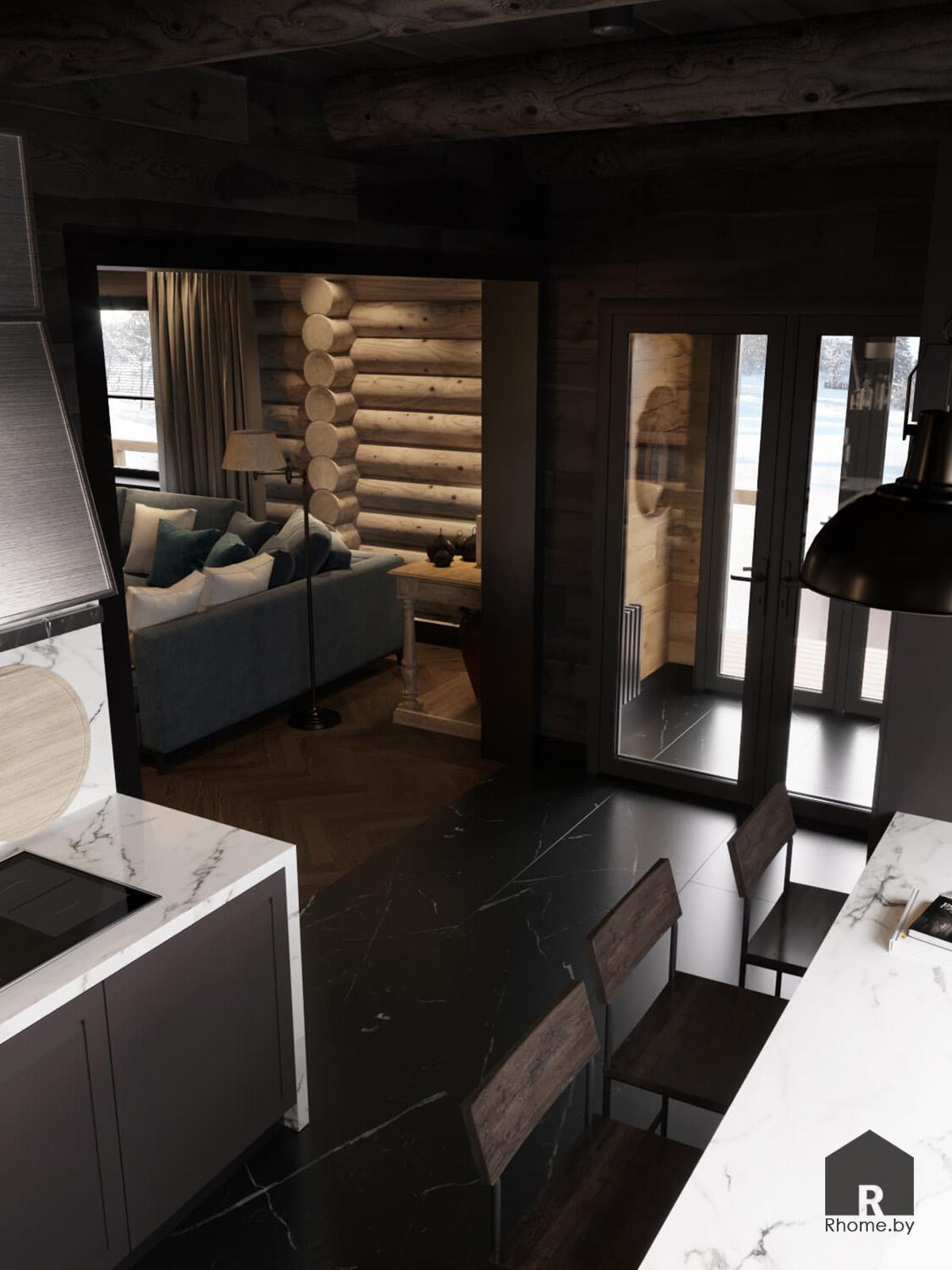 Кухня загородный дом | Дизайн студия – Rhome.by