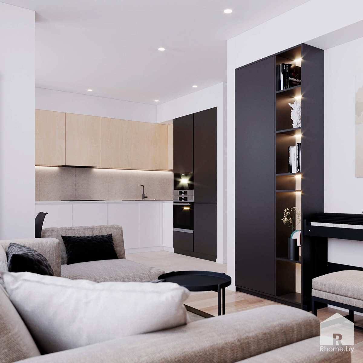 Кухня Гостиная | Дизайн студия – Rhome.by