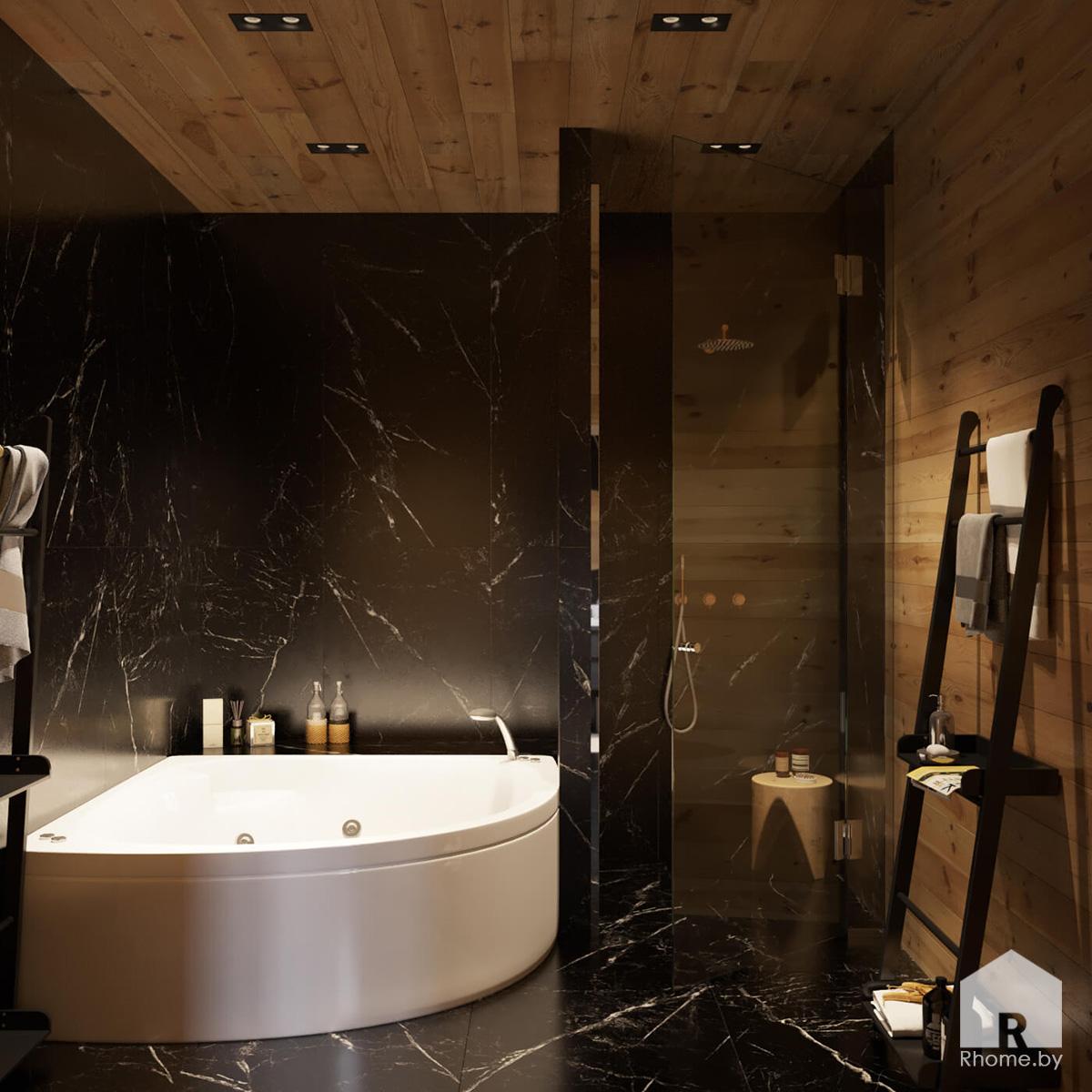 Санузел загородный дом | Дизайн студия – Rhome.by