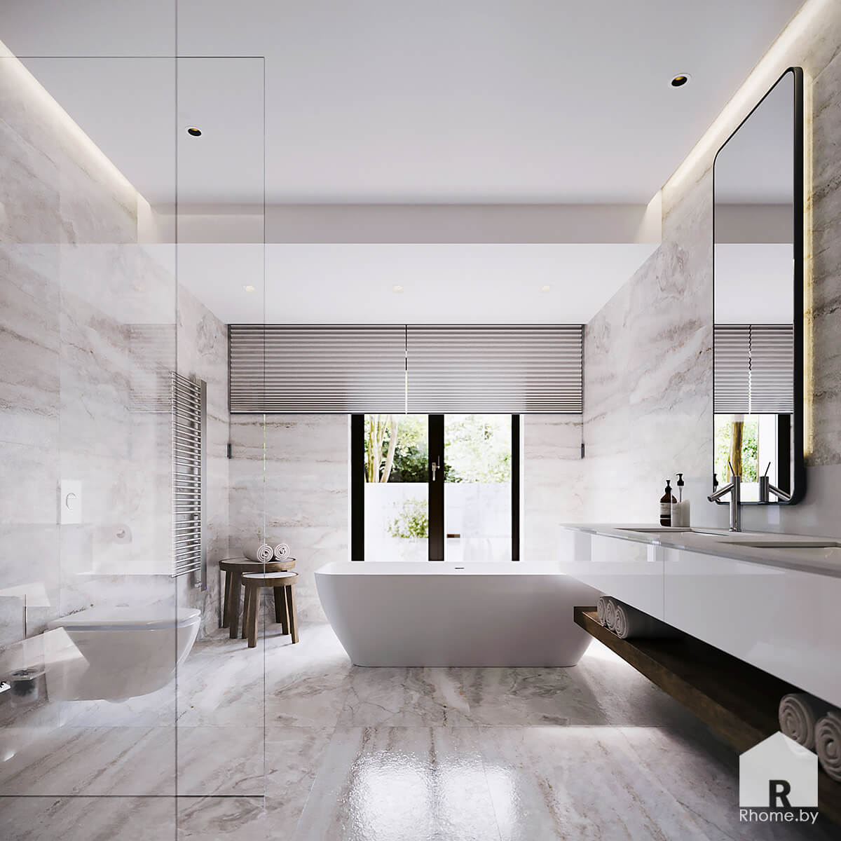 Дизайн интерьера ванной комнаты | Дизайн студия – Rhome.by
