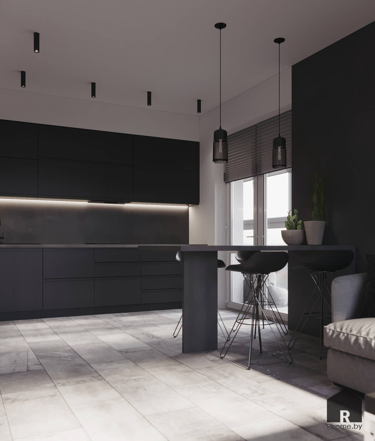 Кухня-гостиная | Дизайн студия – Rhome.by