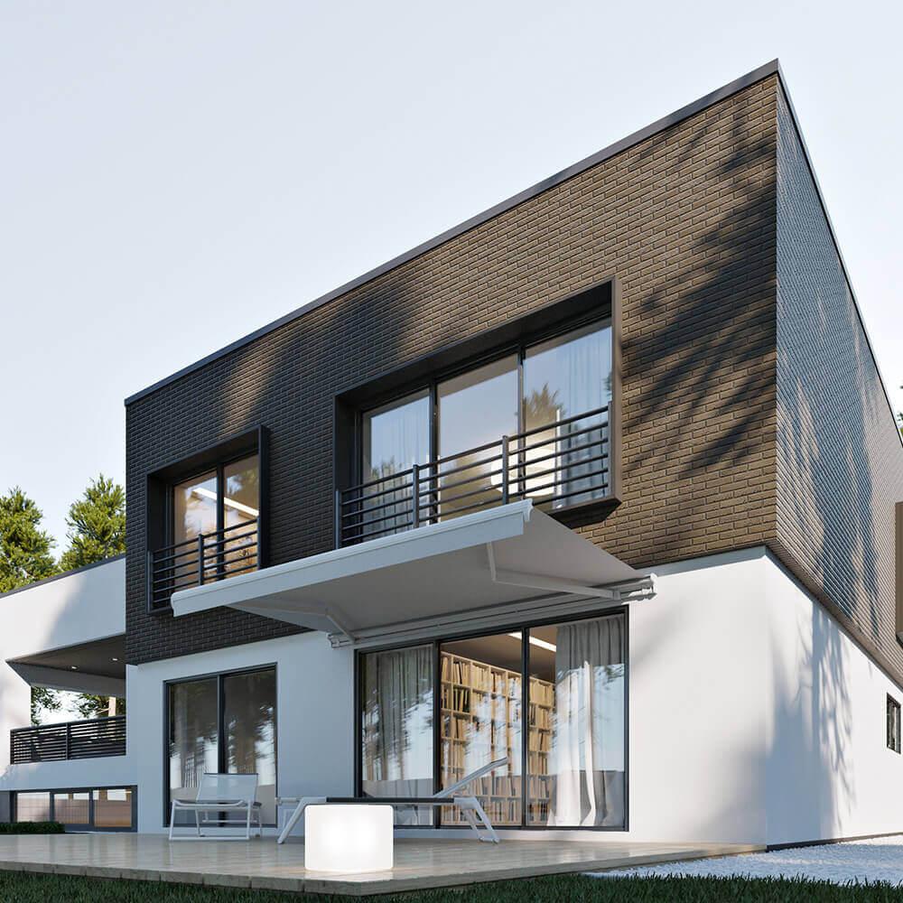 Дом с открытой террасой