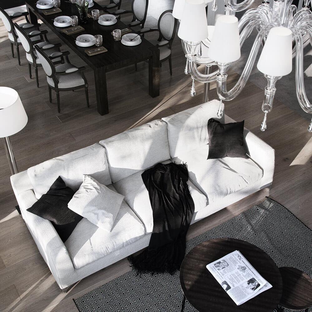 Интерьер дома с мотивами шале