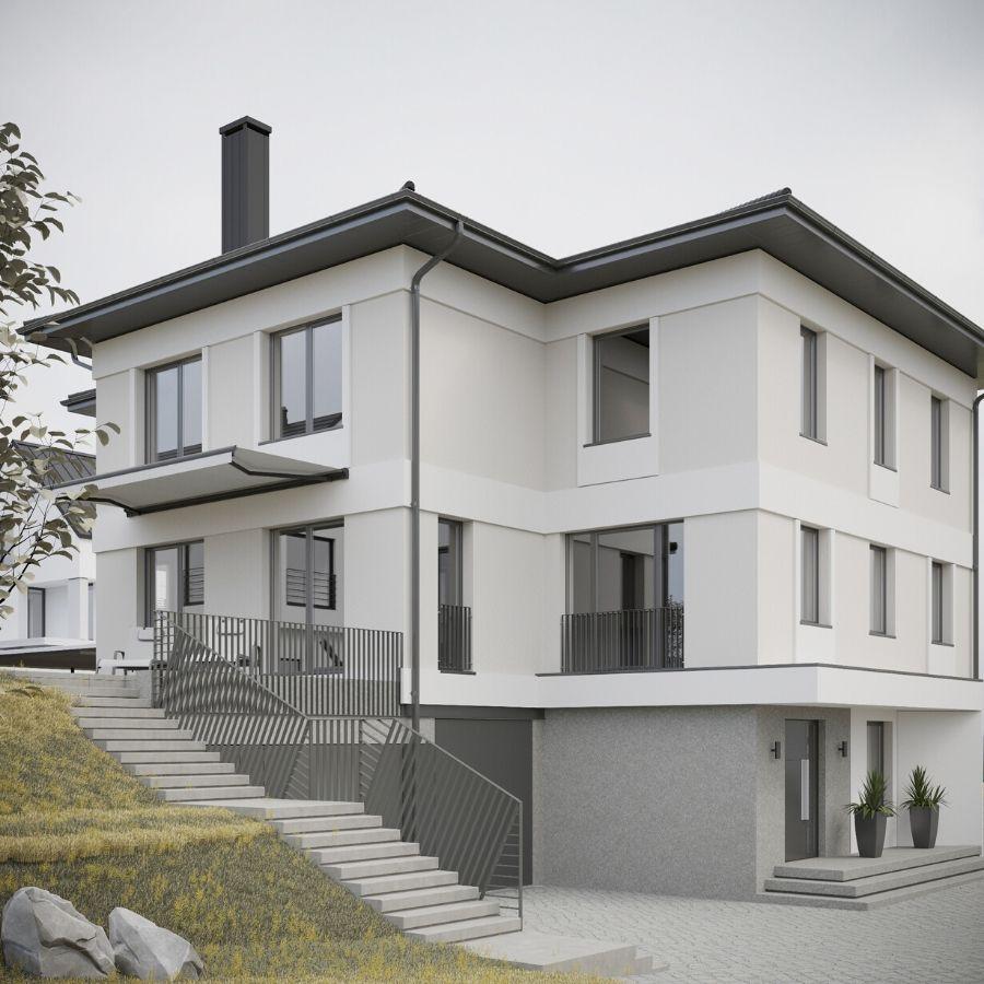 Фасад дома в Боровлянах